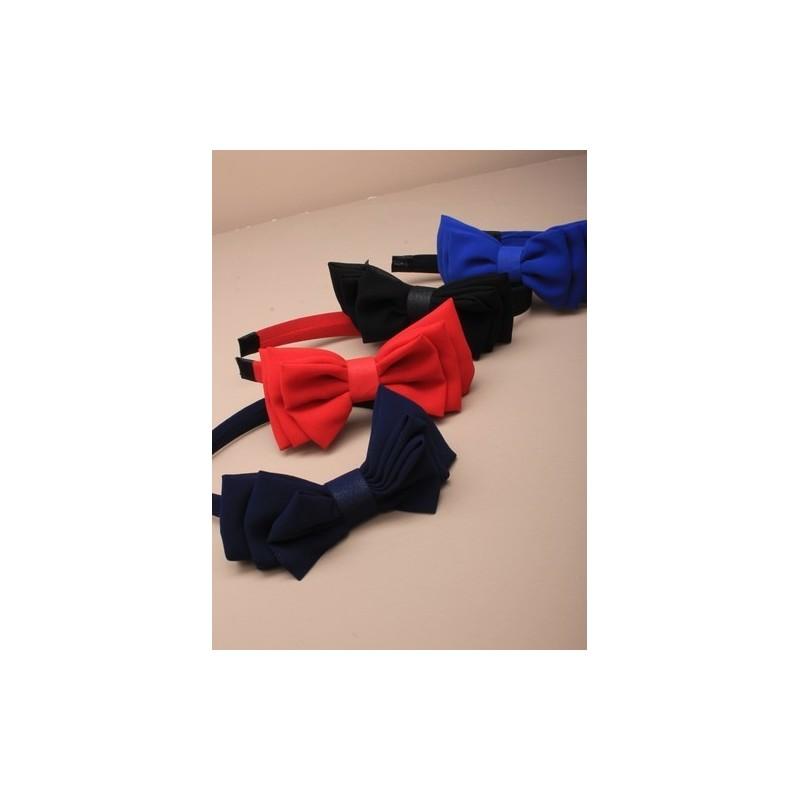 Aliceband - Chiffon covered headband band with 3 cascading chiffons bows