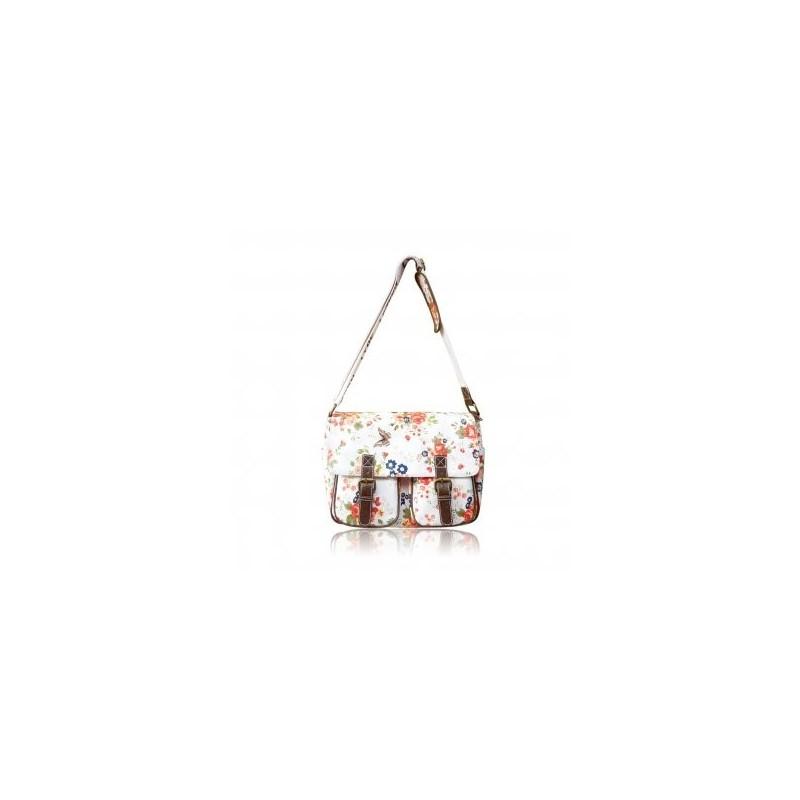 Messenger Bag - Roses and Polka - LYDC Messenger Bag