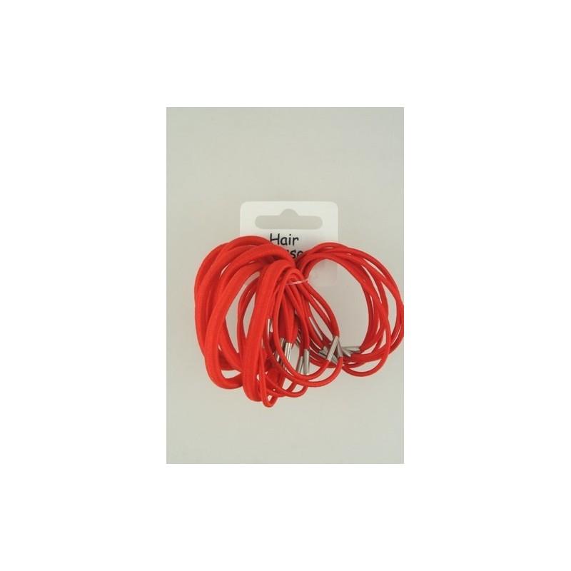 elásticos del pelo - mezcla elásticos pelo rojo x 18