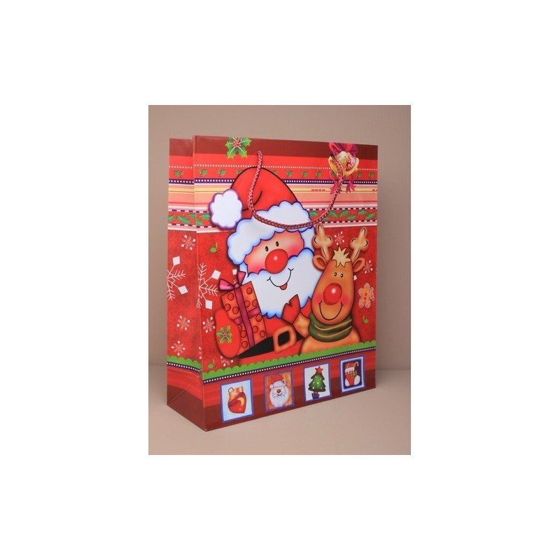 tamanho 32x26x10cm grande saco do presente do Natal de Papai.
