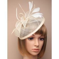 Hatinator Headband Hair Band - cream looped hessian...