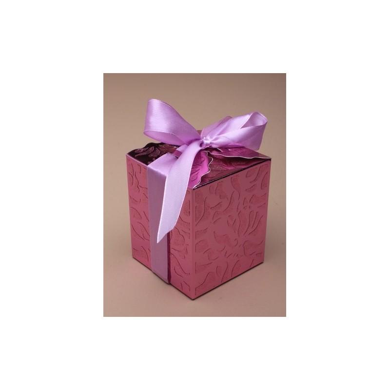 compuesto por tamaño 7x8x7cm.shiny cintas lentejuelas rosa atado caja de regalo superior. Este artículo viene plano lleno.
