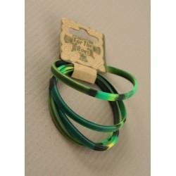4 bracelets en silicone de camouflage