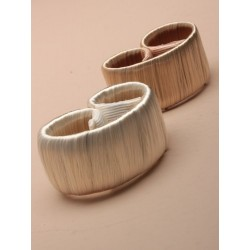 Pony Tail Holder - faux hair self wrapping pony tail ring. in 2 shades of blonde.