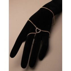 hand chain with crystal diamante heart. in an assortment...