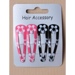 Click Clack Sleepies Hair Clips - card of 4 painted...