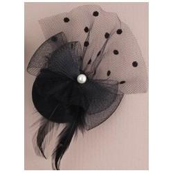 Mini hat Fascinator Clip -...