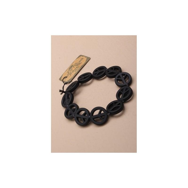 negro paz pulsera símbolo.
