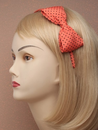 Narrow Polka Dot Alice Band headband hair band ladies women girls spotty band UK