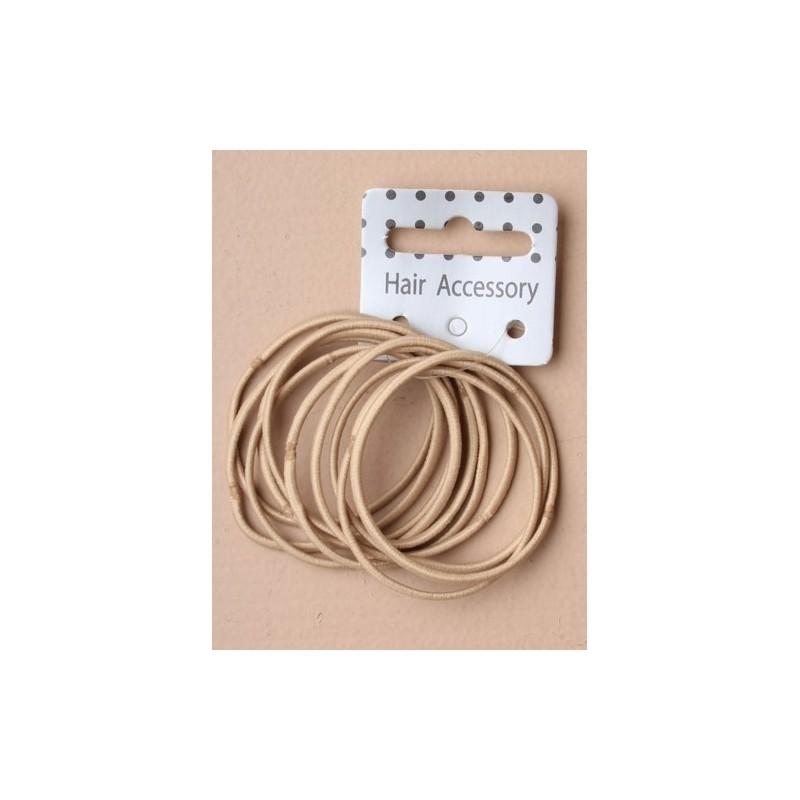 Endless Elastics - 10 thin blonde snag free endless elastics.