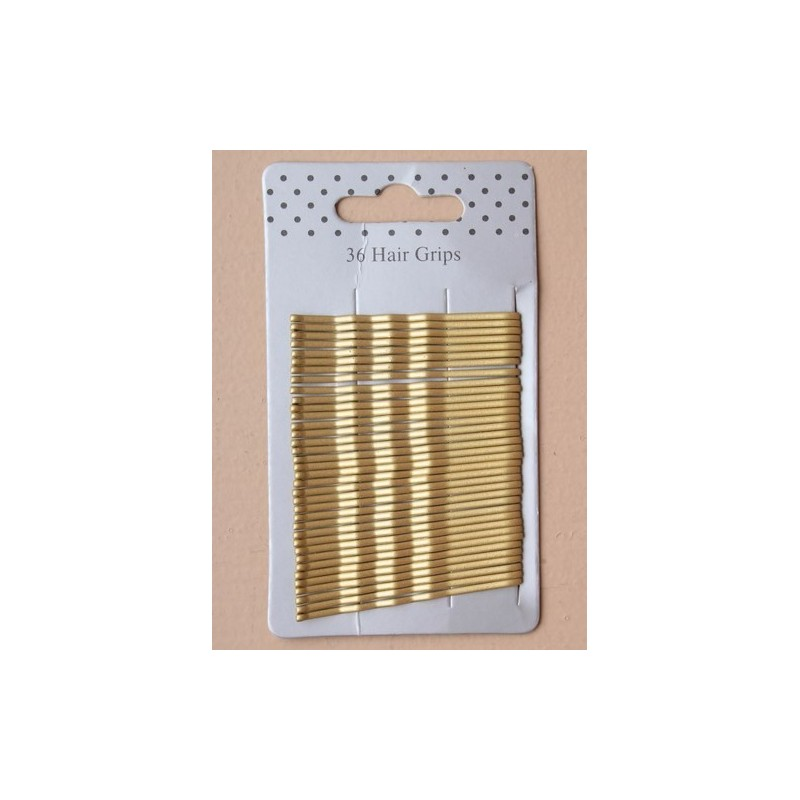card of 36 gold blonde kirby grips. 4.5 cm.