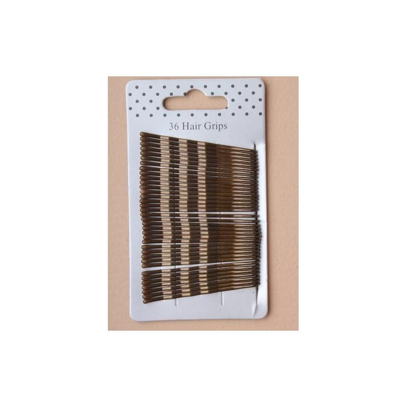 tarjeta de 36 apretones kirby marrones. 5,5 cm.