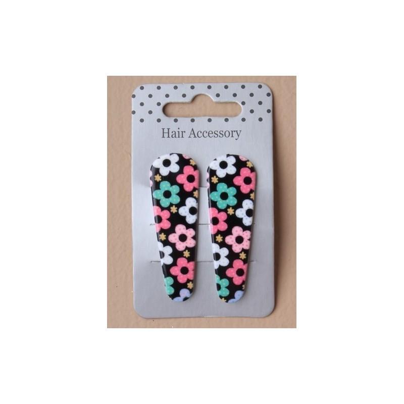 sleepies - floral par plástico cubierta impresa negro de sleepies clack 5cm clic