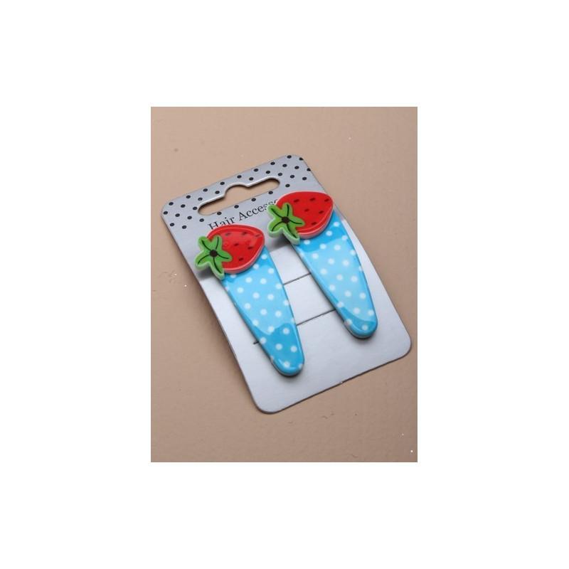 sleepies - glossy par polka morango de 5,5 centímetros clique clack sleepies