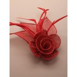 Fascinator Clip & Pin - Red...