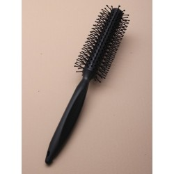Black round hairbrush 20cm