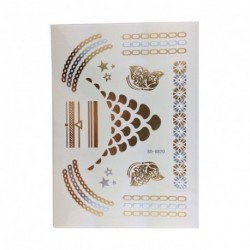 Metallic Temporary Tattoos in Silver/Black/Gold