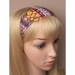 Headwrap - folklore tribal print fabric head wrap