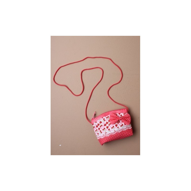 bolso niños - impresión del corazón y el arco irregular con el mini cable de hombro