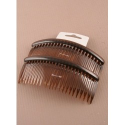 Tortoise Shell Colour - 12cm hair combs - pack of 2