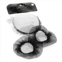 Hair Bun Net - Two piece assorted design black bun net...