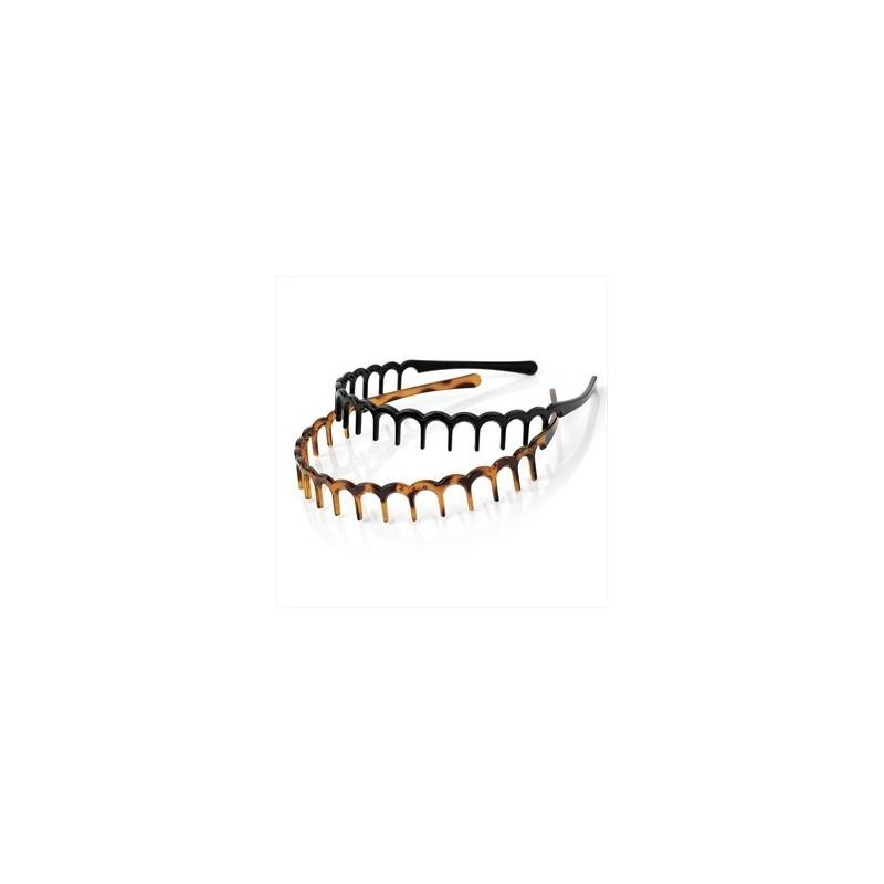 duas peças preto e tartaruga cor do dente cabeça design de acessórios de cabelo set.