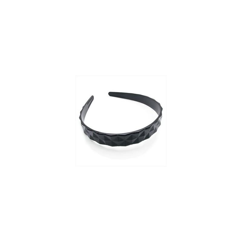 Black diamond cut look headband.