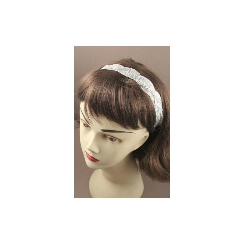 diadema - ondulado tejer la tela con lentejuelas tramo kylie banda de banda para la cabeza