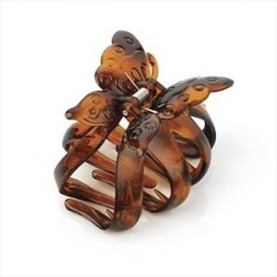 Tortoise shell colour butterfly design hair claw clip.