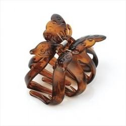 Hair Claw Clip - Tortoise shell colour butterfly design hair claw clip.