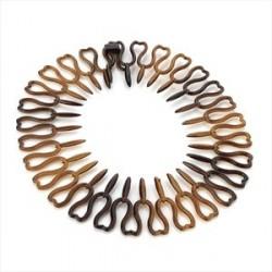 Tortoise shell colour heart design shark tooth hair band