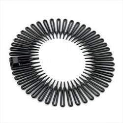 Black colour shark tooth hair band.