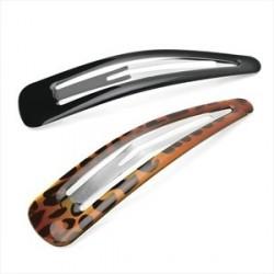 dois grande efeito cabelo 10 centímetros preto e tartaruga shell peça encaixar set clip.