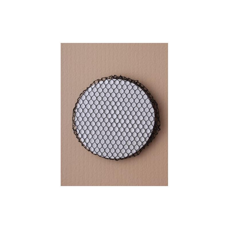 bollo de malla negro neto 8cm pequeña