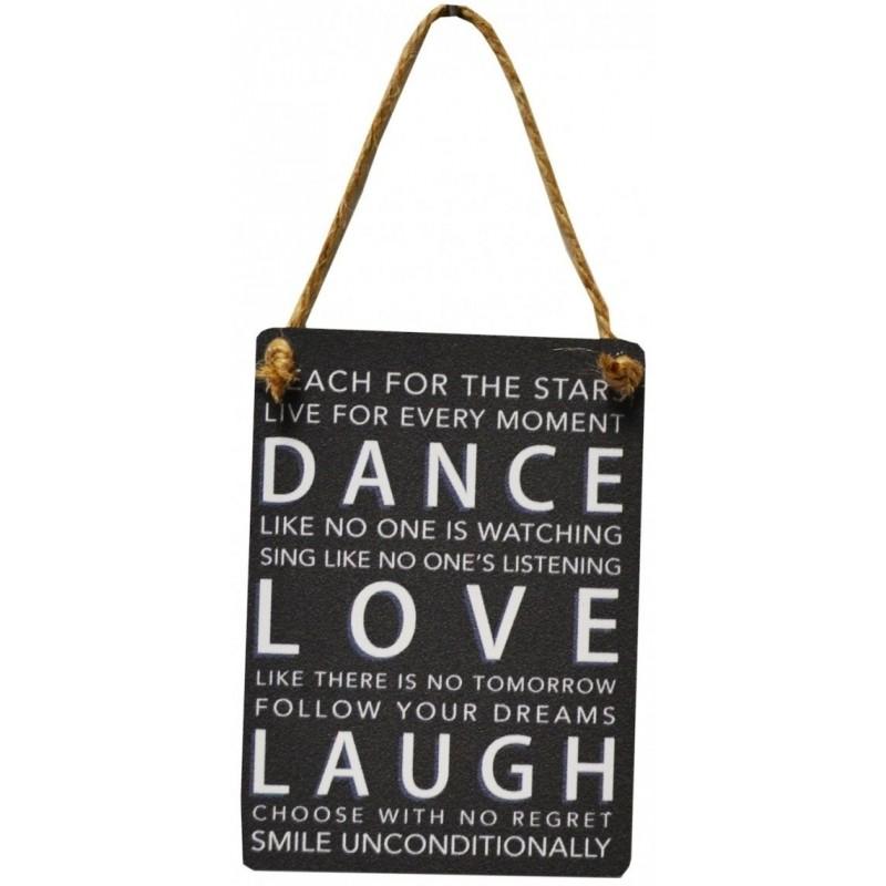 metal dangler sign 9x6.5cm - dans elsker griner