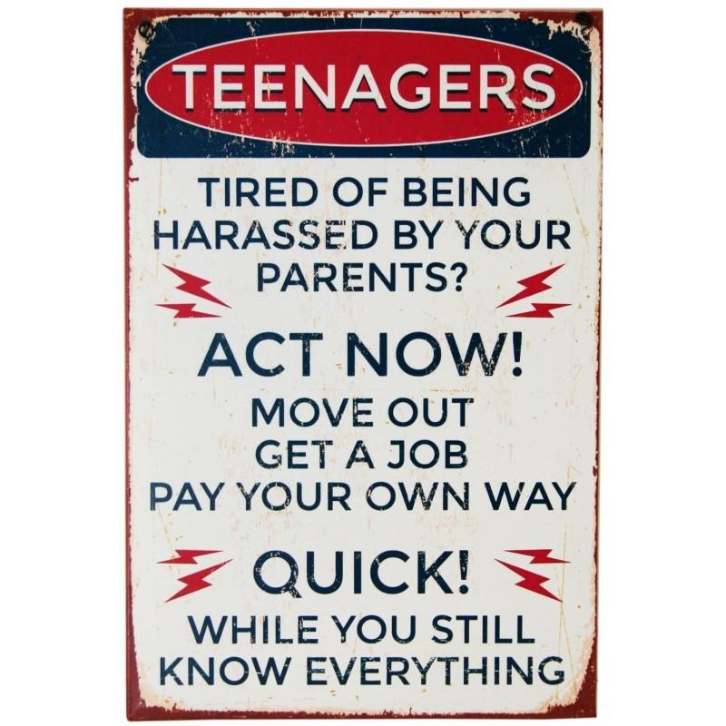 sinais de alerta de metal - adolescentes advertências escolha de 2 sinais
