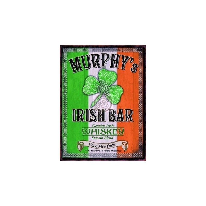 Pub Sign 15x20cm - Murphy's Bar Metal Wall Sign