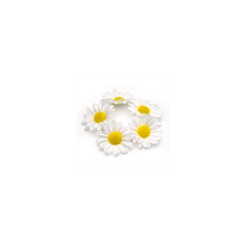 de color blanco diseño flor banda para el cabello pelo elástico.