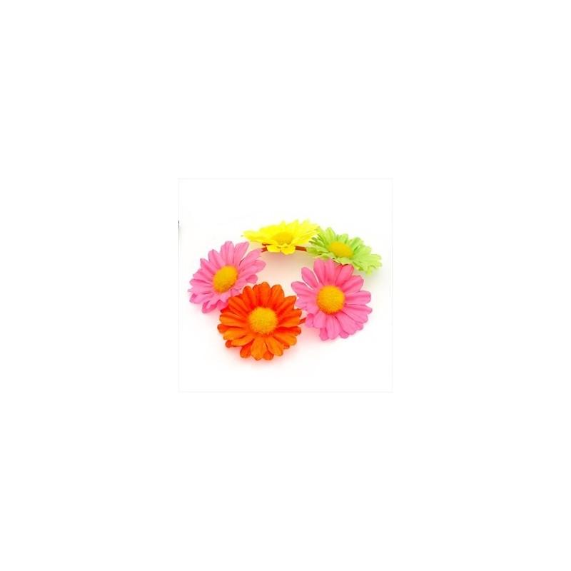 de neón de color diseño de flores banda para el cabello pelo elástico.