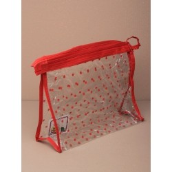 size : 20x16x6cm. clear pvc make-up /accessory bag with...