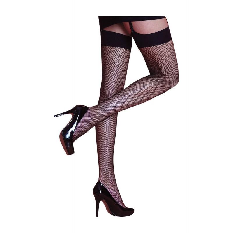 sedosos - medias de red rojas negro - talla - medio