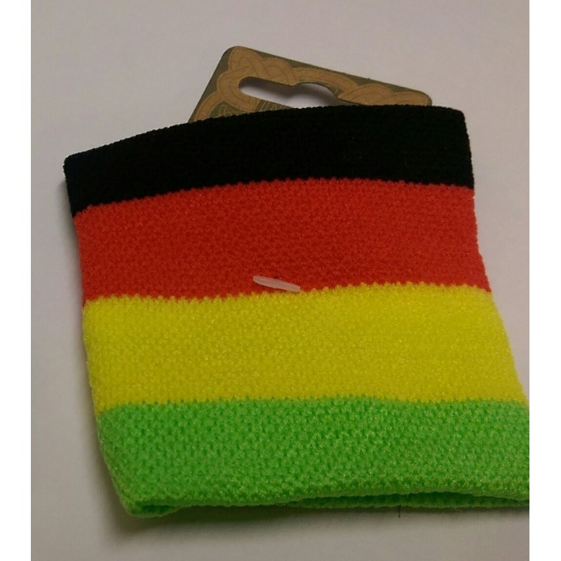 Colourful wristband sweatbands in 2 different designs