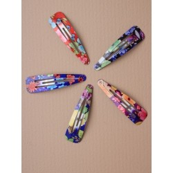 Click Clack Sleepies Hair Clips - card of 2 floral...