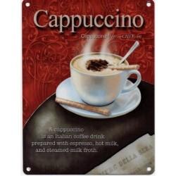 cappuccino signo 15x20cm - signo de metal café cappuccino nostálgico publicidad retro vendimia