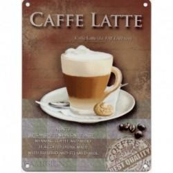 cafe sinal latte 15x20cm - café latte de metal sinal de propaganda retro do vintage nostálgico