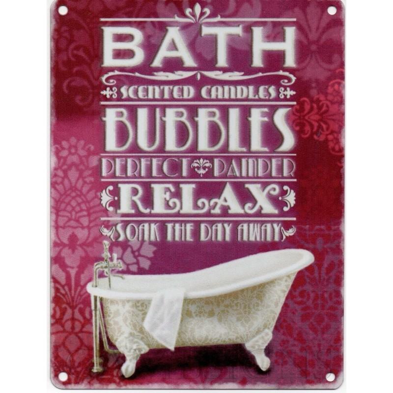 bad bobler slappe metal skilt nostalgisk vintage retro reklame emalje væg plak 200mm x 150mm