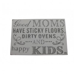 Wooden Sign - Good Mums have sticky floors - 14.5 x 3 x 9.5cm Wooden Block Sign