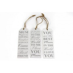 Wooden Signs for Mum 15x5cm - Best friend, I Love You, Best Mum - 3 different styles to choose from