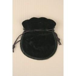 Ring Pouch - Black velvet drawstring pouch