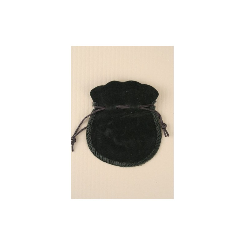 bolsa de terciopelo negro con cordón